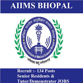 All India Institute of Medical Sciences Bhopal, AIIMS Bhopal, AIIMS, MP, Madhya Pradesh, Senior Resident, Tutor, Graduation, freejobalert, Sarkari Naukri, Latest Jobs, aiims bhopal logo