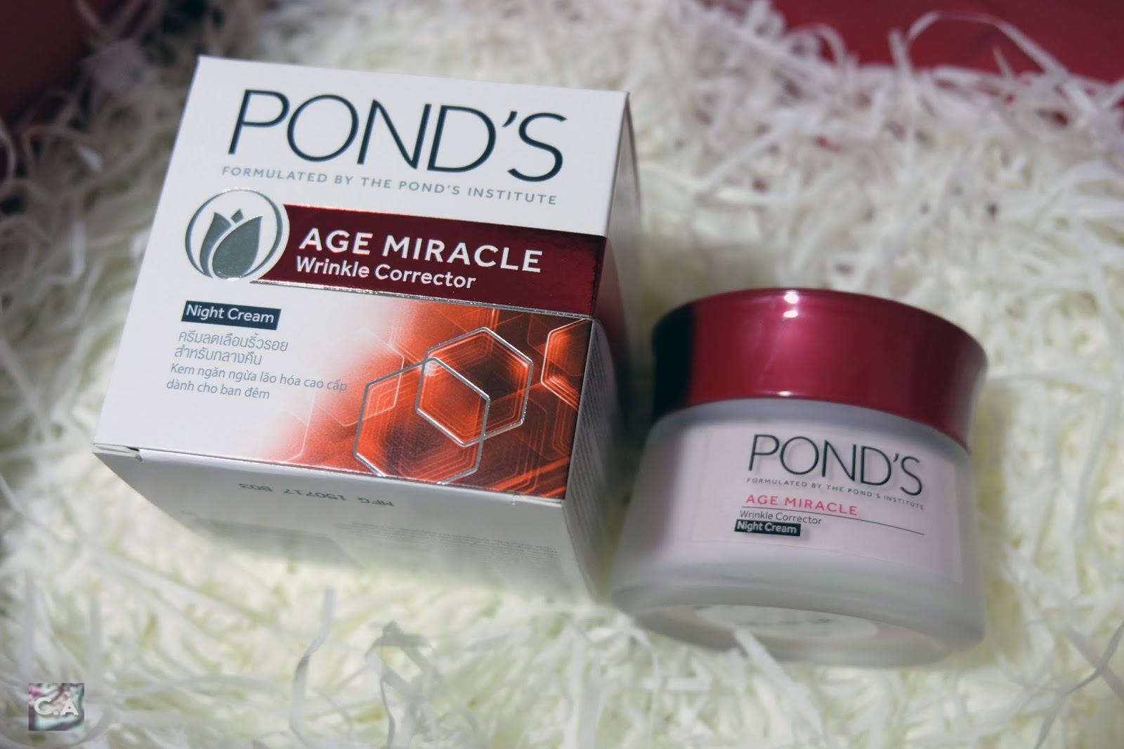 Pond's Age Miracle Wrinkle Corrector Night Cream Curitan Aqalili