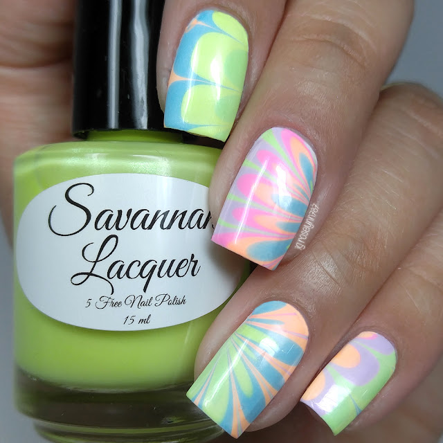 Savannah Lacquer - Salt Water Taffy Watermarbles