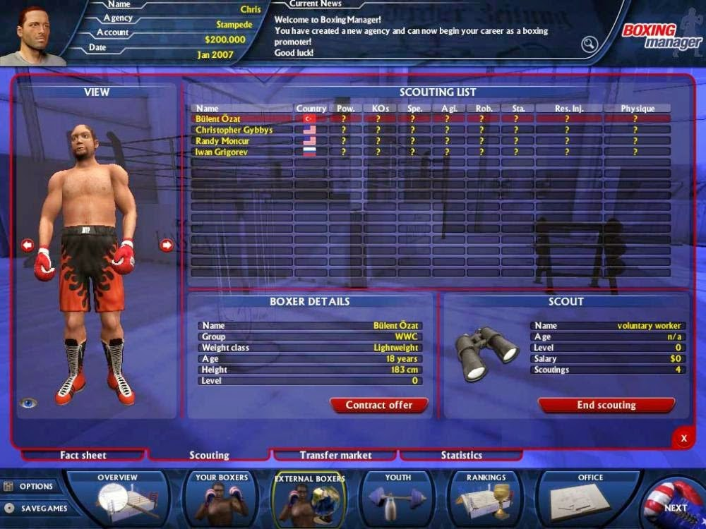 Free Games For Free : Worldwide boxing manager pc game free download full