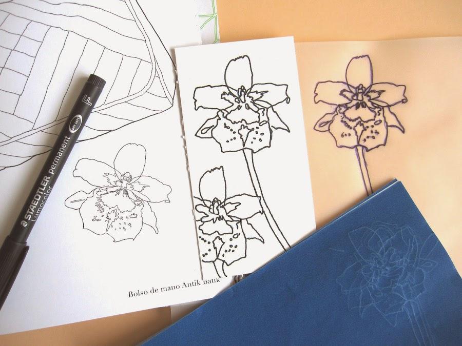 primer paso tag abril: cómo estampar en scrap una flor (orquídea) sin tener sello