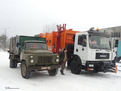 KrAZ 5401Н2 śmieciarka, GAZ 53 śmieciarka