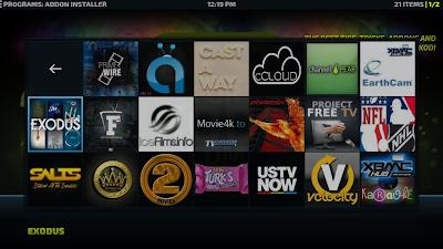 Choose the install option to install Kodi Addon.