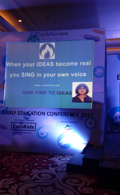 Ms. Bhargavi Goel, Founder of Glorifire app and Class XII student of DPS Vasant Kunj felicitated at Educators Conference in Gurgaon