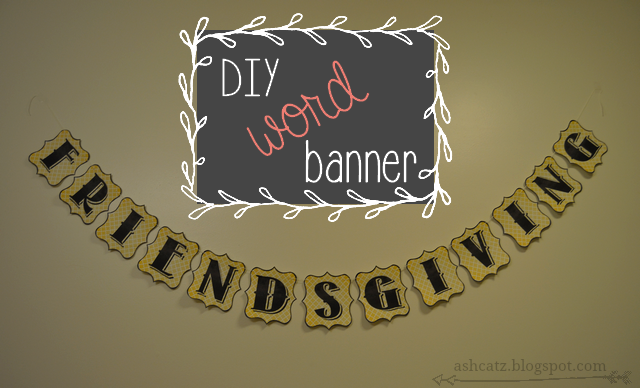 Diy Wedding Word Banners: DIY: Word Banner With Printable Letters