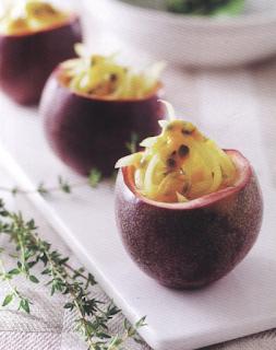 夏天食譜,夏天吃什麼,涼伴青木瓜,百香果,素食食譜