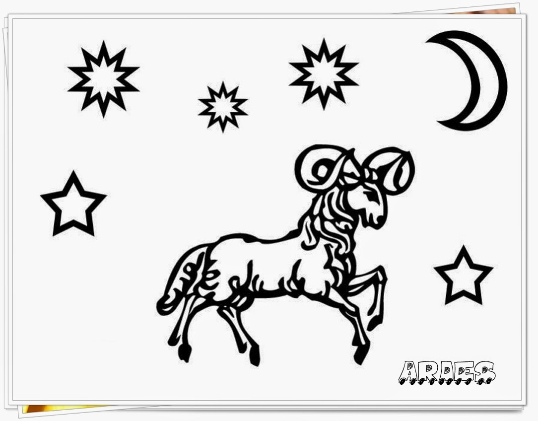 aries zodiac coloring pages