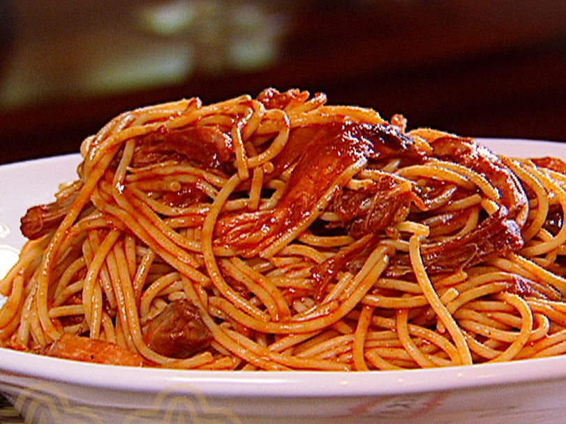 resep oke ibu spaghetti saus barbeque