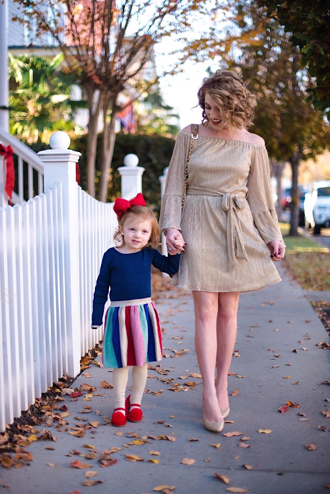 Mommy & Me Dressed Festively - Something Delightful Blog