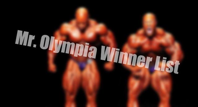 Mr Olympia Winners List
