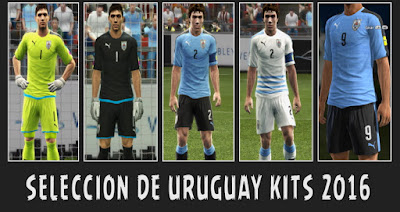 New Kits 2016 Seleccion De Uruguay Para PES 2013