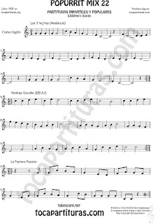 Partitura de Corno Inglés Mix 22 Sheet Music for English Horn Music Score