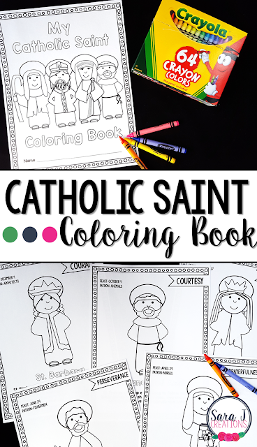 Ideas for teaching about the saints to kids. This is perfect for All Saints' Day and has lots of ideas for Catholic schools and homes.