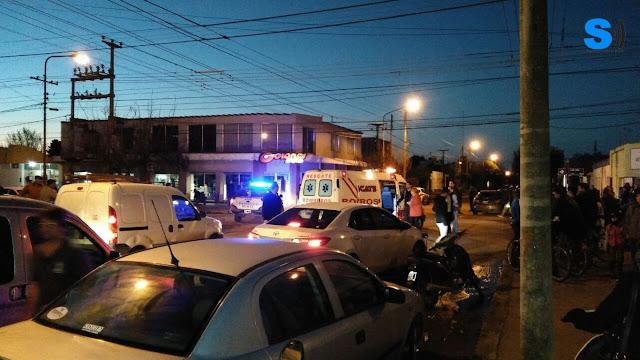Un auto colisionó con una bicicleta, la mujer fue derivada a Villa María