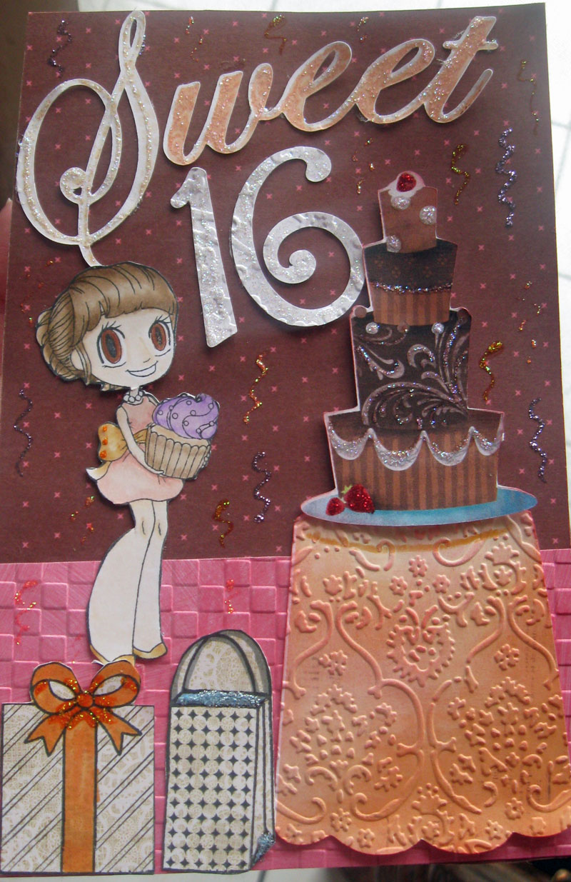 Lovetocreatecards Sweet 16th Birthday Card