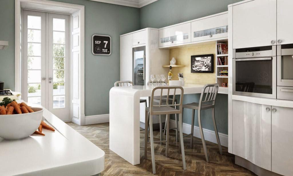 30 modelos de mesas y barras para cocinas de todos los for Barras de cocina espacios pequenos