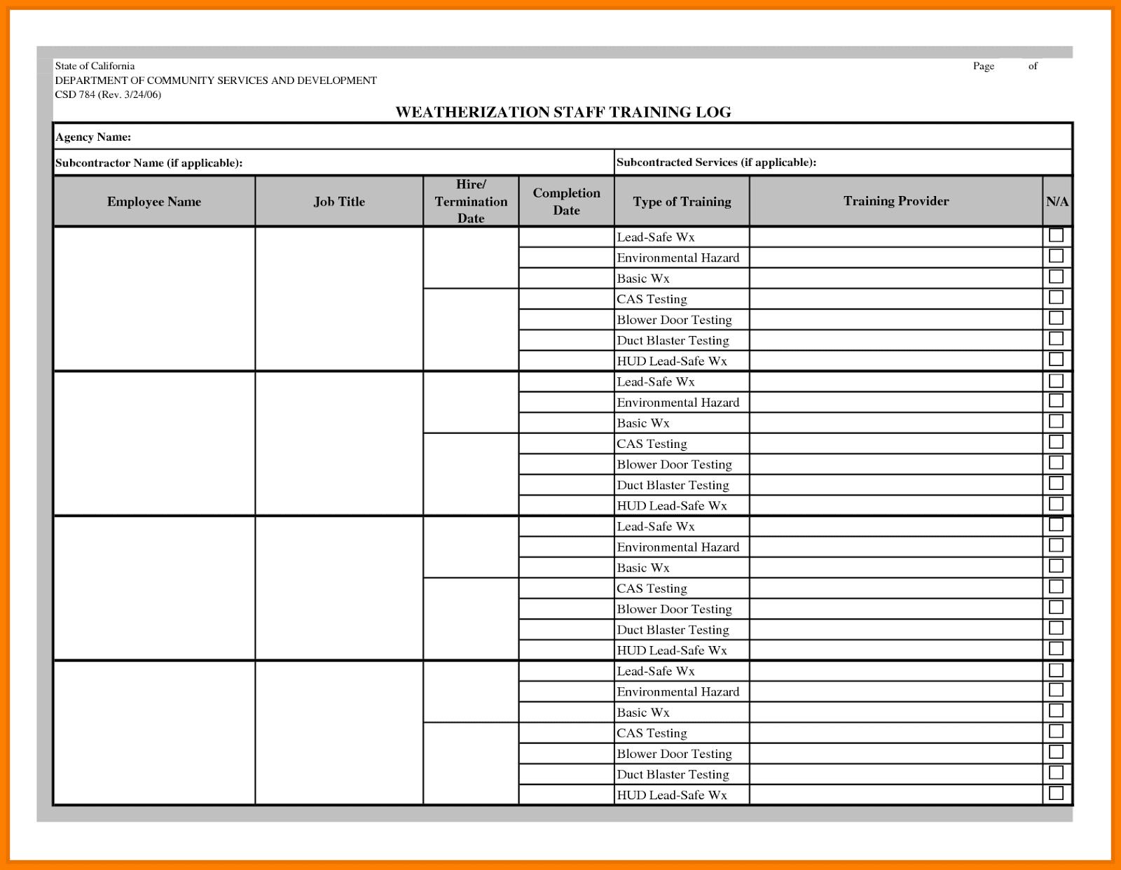 Workouts log templates printable in PDF
