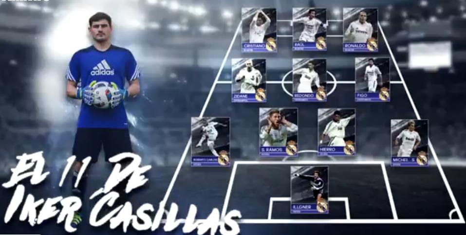 Iker Casillas partilhou na sua página do Facebook aquele que foi o melhor  11 do Real só com jogadores com quem coincidiu nos merengues. O  guarda-redes do FC ... f2b7125c9036f