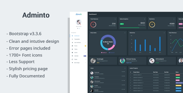 Download Adminto Responsive Admin Dashboard