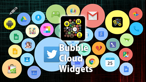 AndroidZip: Free Download Bubble Cloud Widgets + Wear v2 06