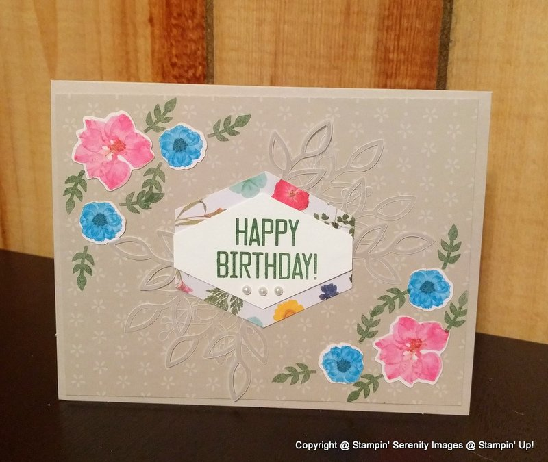 Stamping Serenity Birthday Are A Big Deal
