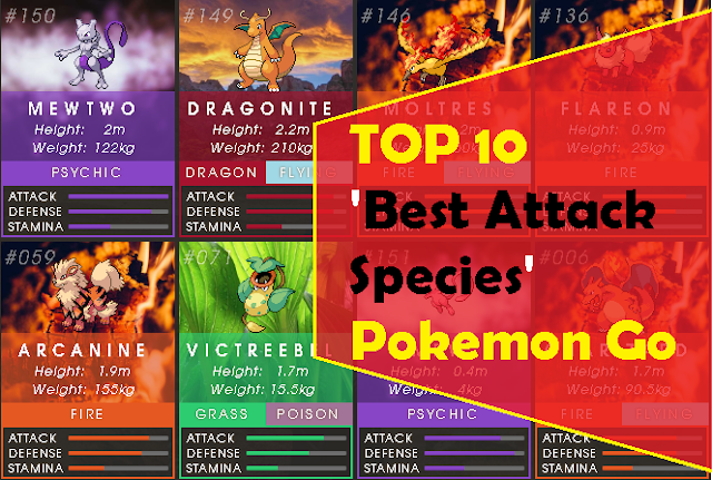 Top 10 Best Attack Species Pokemon Go