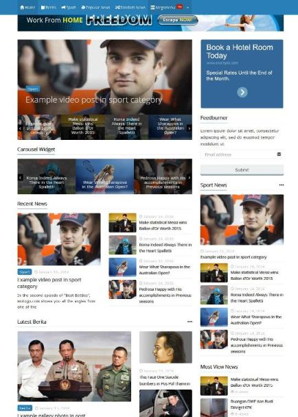 Theme WordPress untuk Website Berita, Powermag Powerfull Magazine dari Kentooz
