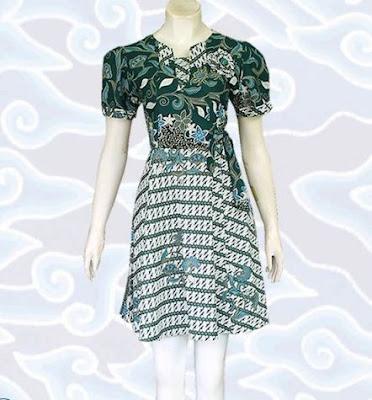 contoh model baju batik wanita modis
