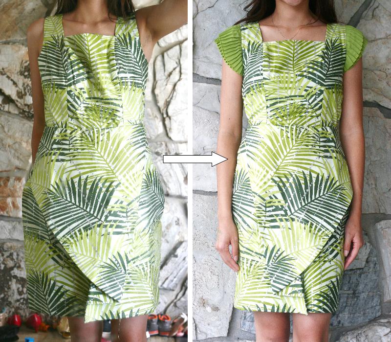 537016541c105 DIY  Adding Sleeves to a Sleeveless Dress