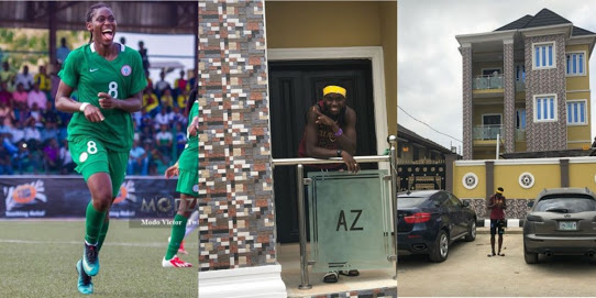 Footballer Asisat Oshoala Buys A House For Her Parents (Photos)