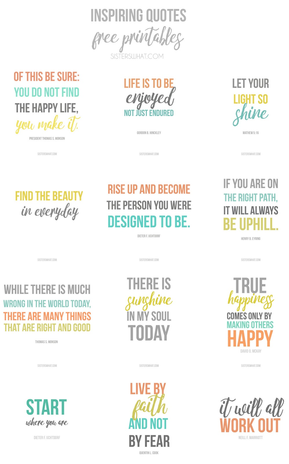 download some great and inspiring quotes free printables