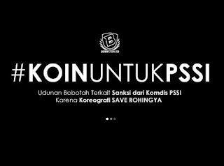 Persib Didenda Rp50 Juta Akibat Aksi Save Rohingya, Bobotoh Galang #KoinUntukPSSI