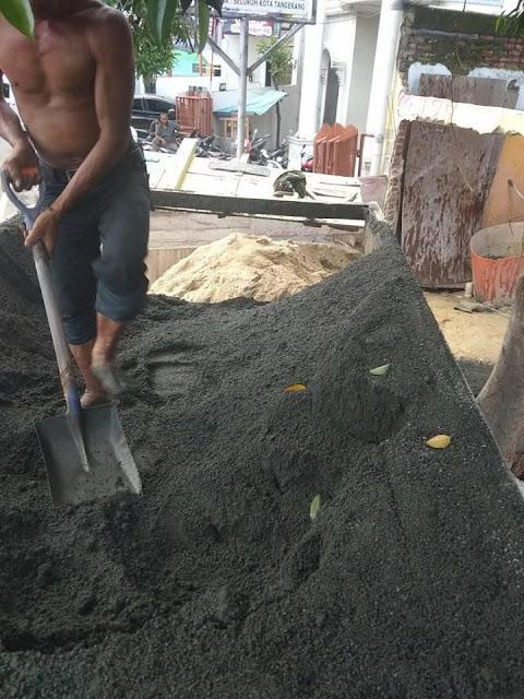 harga jual pasir cor hitam