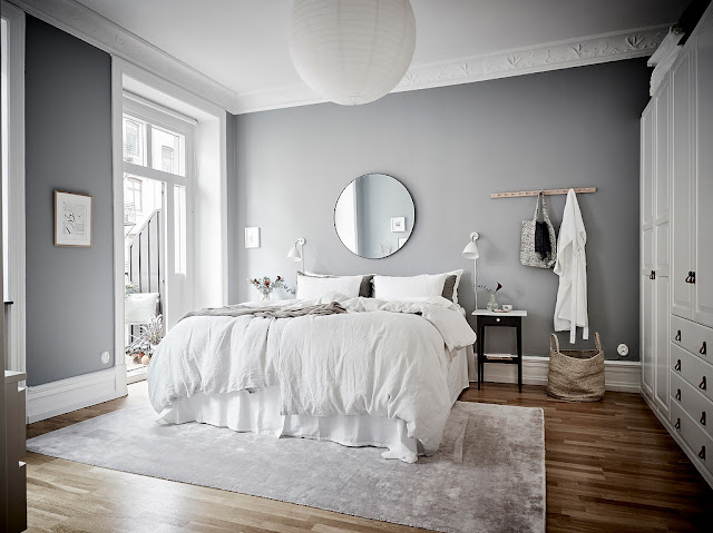 Perfect light grey scandinavian home