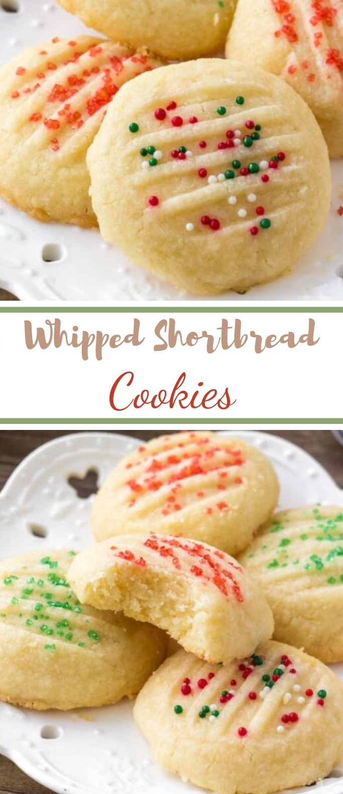 Whipped Shortbread Cookies #cookies #holiday