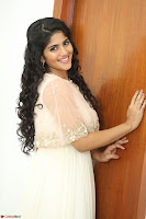 Megha Akash in beautiful Cream Transparent Anarkali Dress at Pre release function of Movie LIE ~ Celebrities Galleries 058.JPG