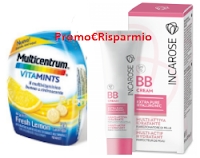 Logo Campioni omaggio Multicentrum Vitamints e Incarose BB Cream