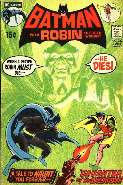 Batman v1 #232, 1971 dc bronze age comic book cover by Neal Adams - 1st Ra's Al Ghul