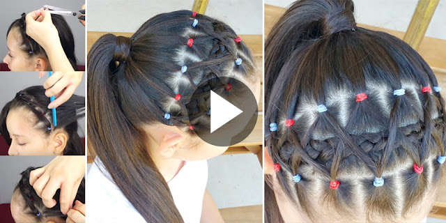 How To Create Elastic Bands Braided Headband, See Tutorial