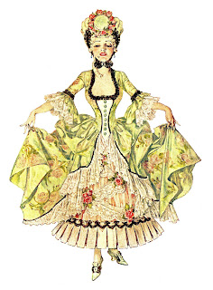 fashion antique dress women illustration download