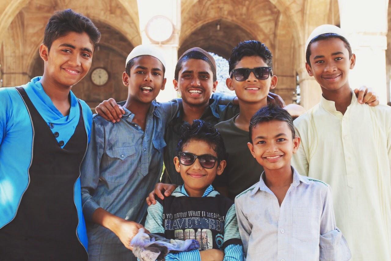 Sidi Saiyyed Mosque Ahmedabad Kids children sayed sayeed masjid islam muslim