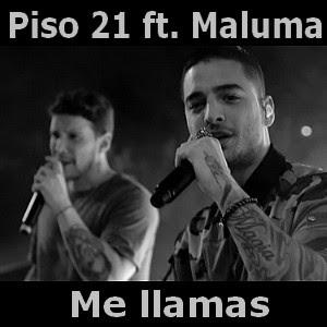 piso 21 me llamas ft maluma acordes d canciones