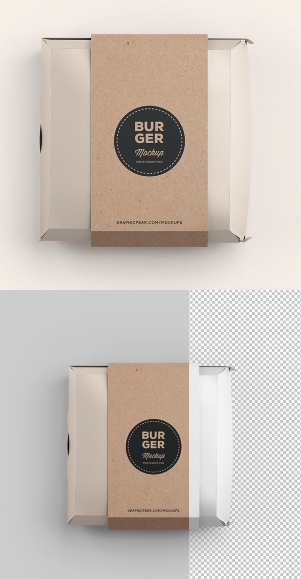 Download Free Mockup PSD 2018 - Free Burger Box Package Mockup Template