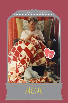 Mom Crochets Gifted Blanket