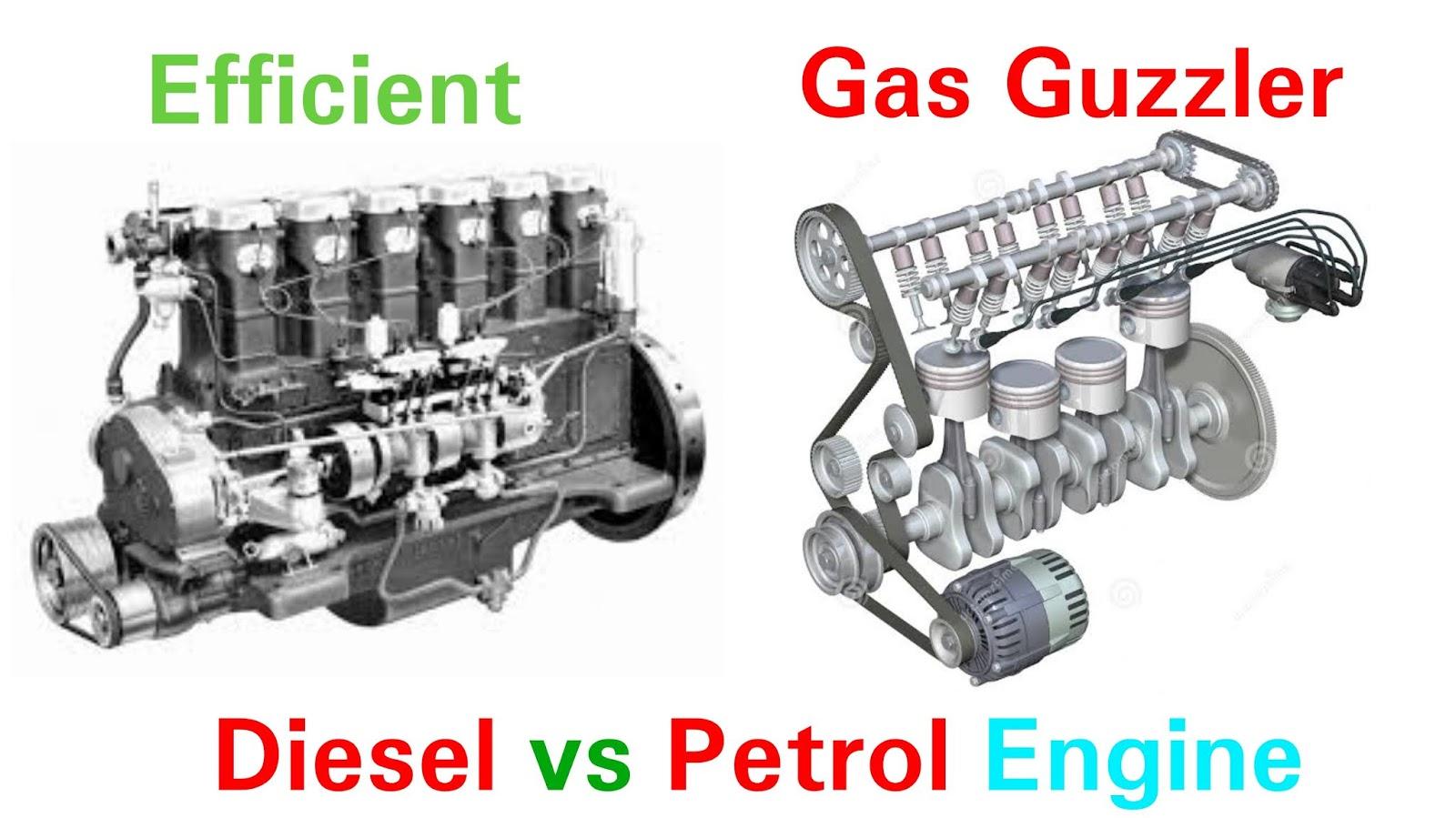 Diesel Engine vs Petrol Engine  Why diesel is more efficient