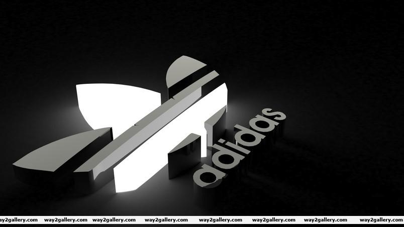Adidas black amp white logo wallpaper