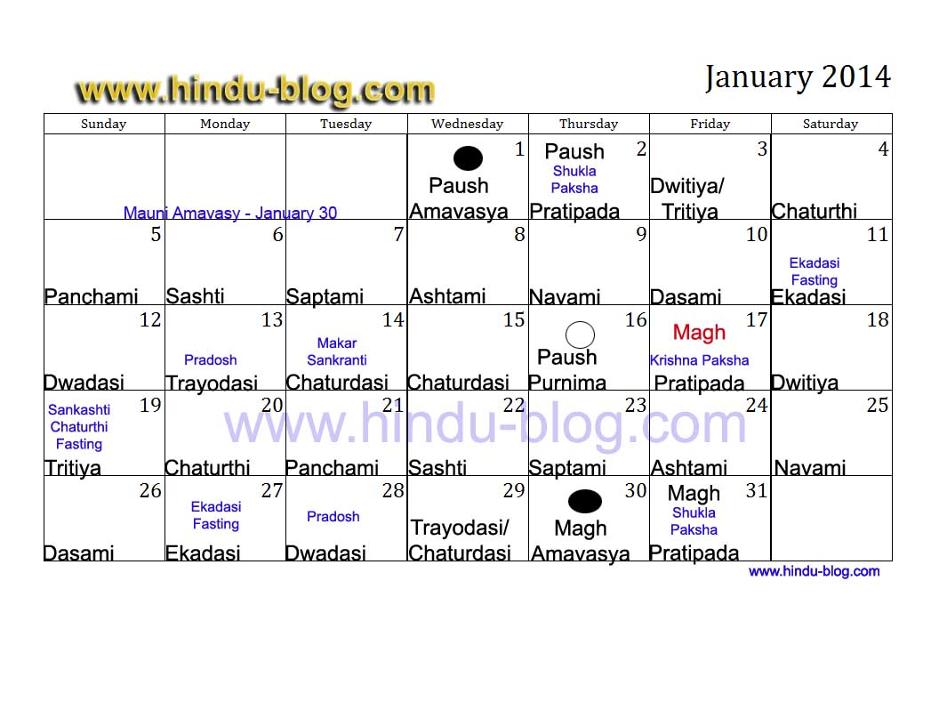 Hindu calendar 2014 with panchang Free download