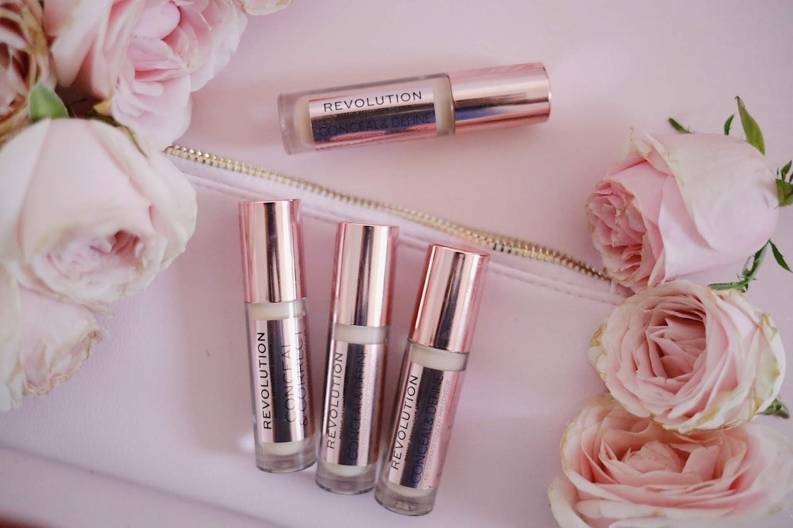REVOLUTION CONCEAL AND DEFINE CONCEALER ,MAKEUP REVOLUTION , makeuprevolutionbeauty,;rosemademoiselle, rose mademoiselle , blog beauté , Paris