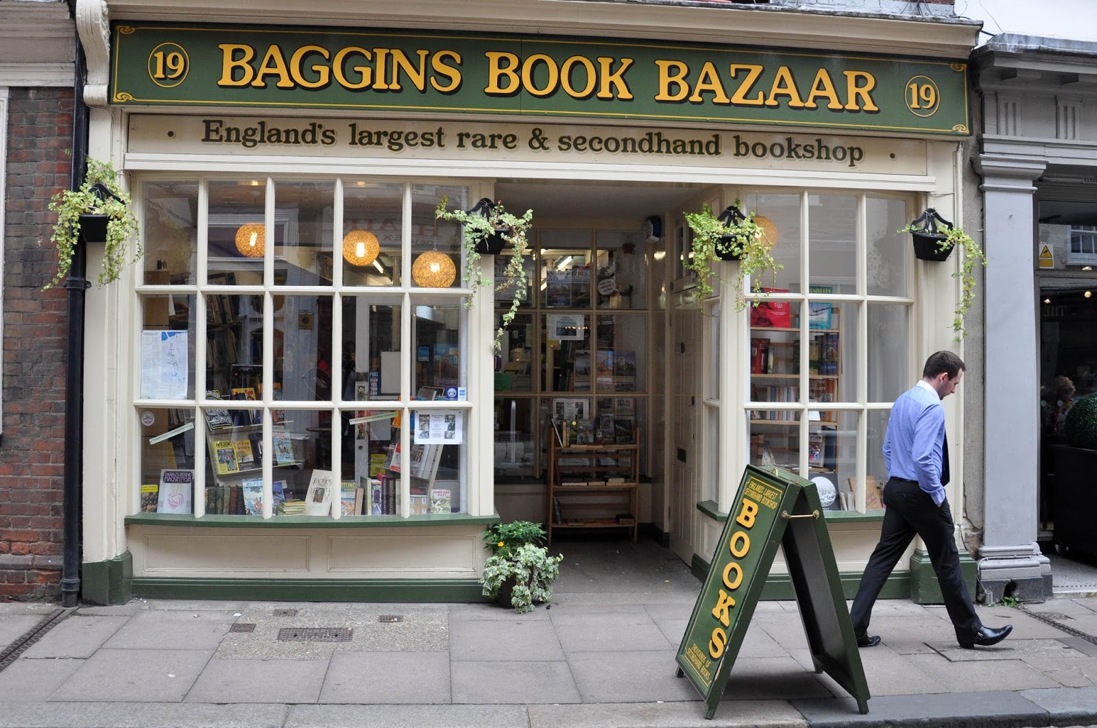 Baggins Book Bazaar, Rochester High Street, Kent, UK