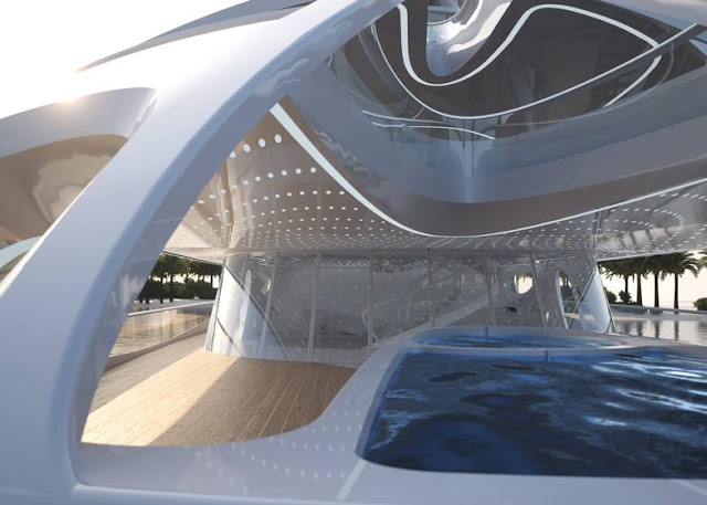 thiết kế nội thất siêu du thuyền bởi zaha hadid